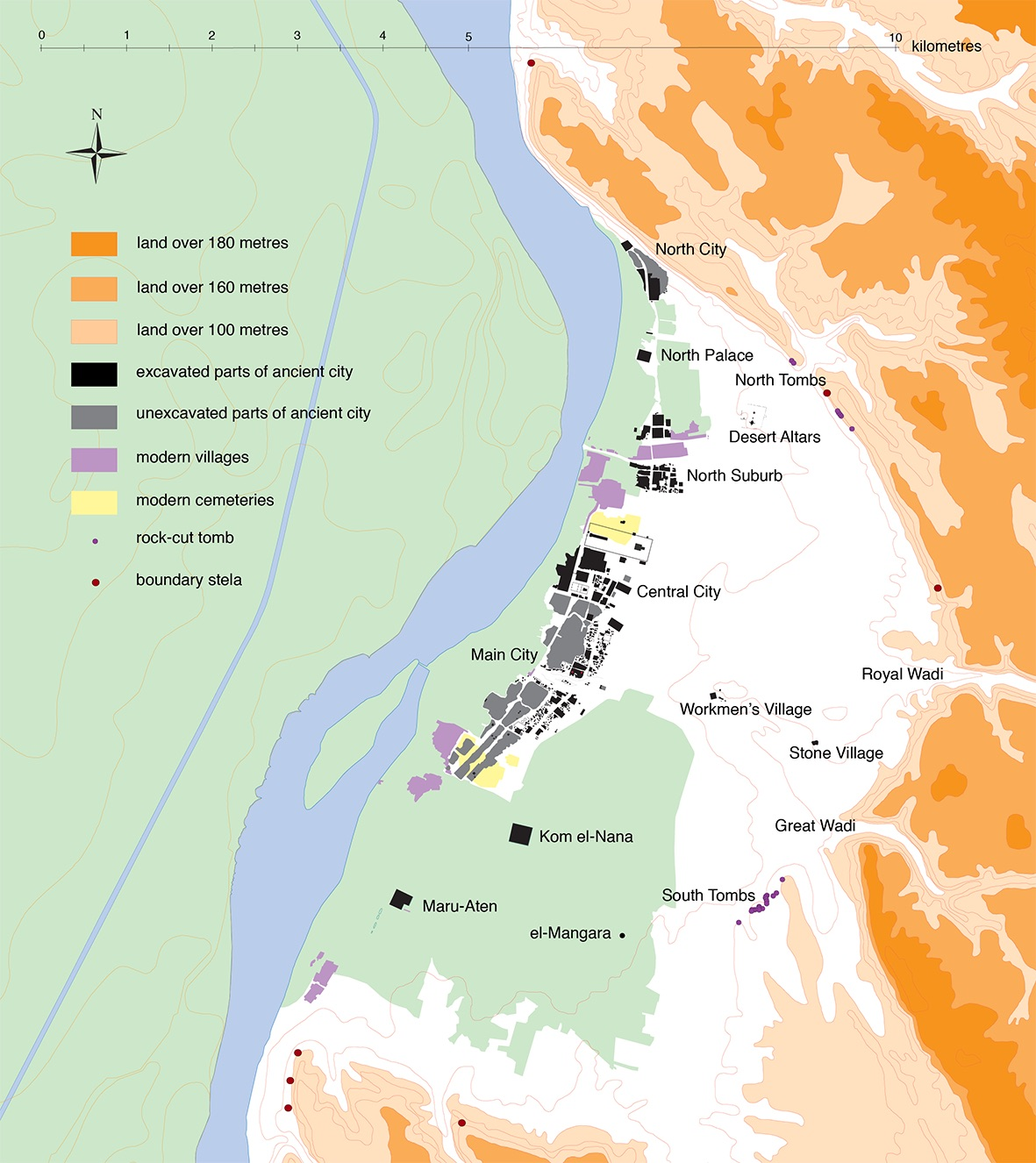 Map of the Amarna Site