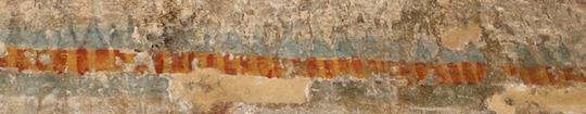 Ancient Amarna: decorative border on a wall painting