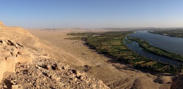 The site of Amarna on the east bank of the river Nile, middle Egypt